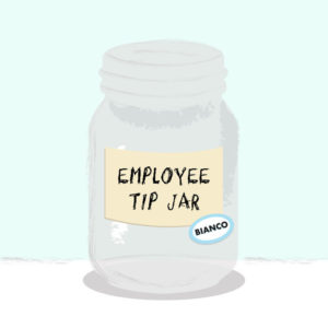 Bianco Virtual Employee Tip Jar